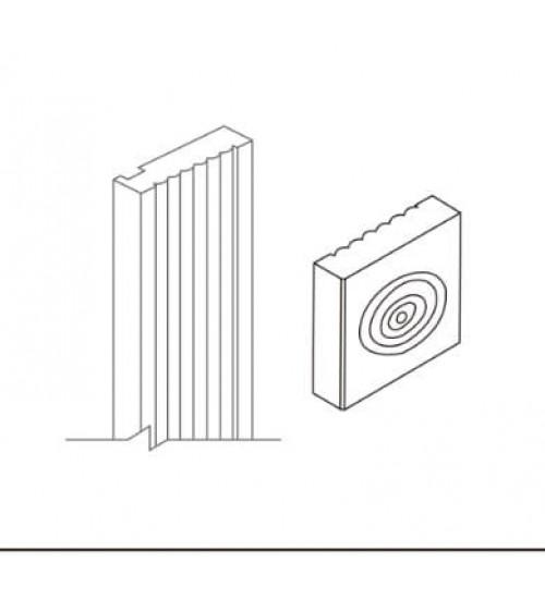 """Rosette Block 3""""W x 3""""H – 5"""