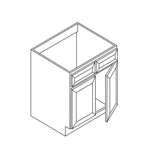 Sink Base- 2 Tip Out drawers 2 Doors – 1