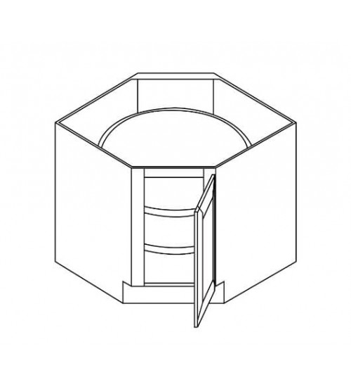 "Lazy Susan Diagonal Door 36"" - 8"
