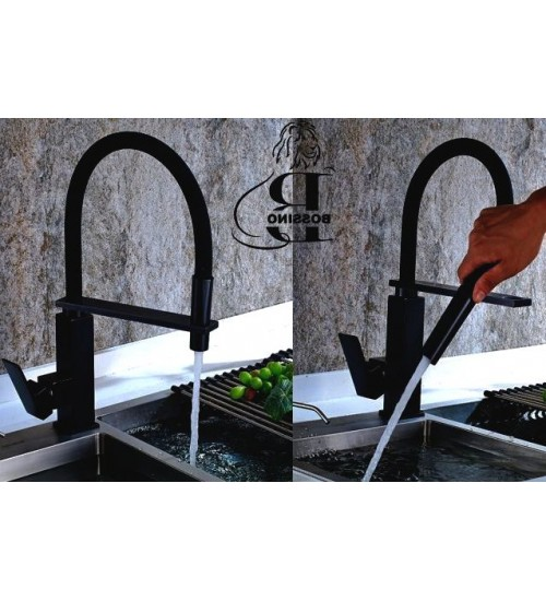 Levi Flexible Hose Tap- black- Kitchen Faucet