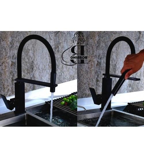 Levi Flexible Hose Tap- black- Kitchen Faucet