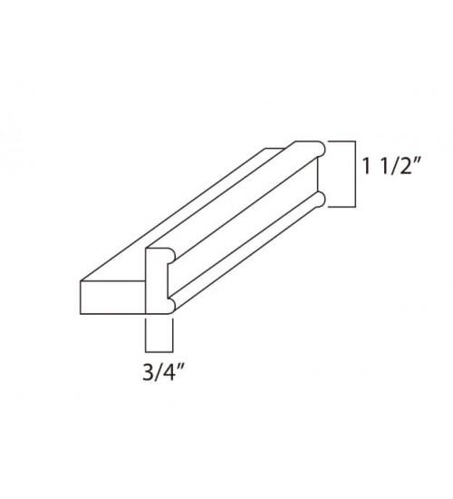 "Traditional Light Rail 120"" Length x 1 1/2 Height – 1"