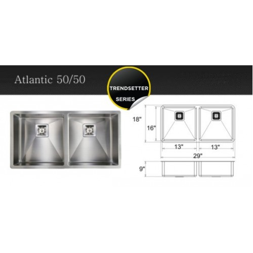 Atlantic 50/50- kitchen sink