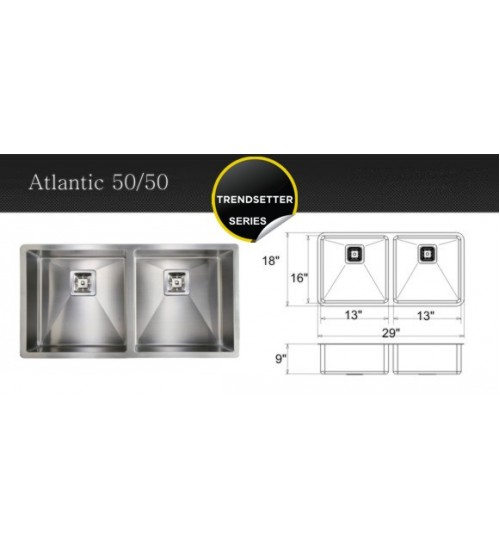 Atlantic 50/50- kitchen sink