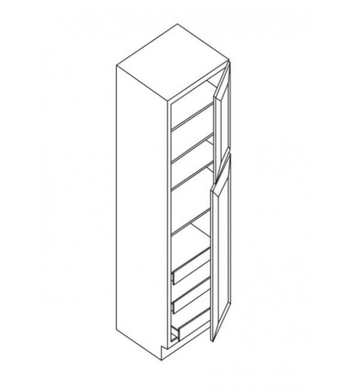 "Wall Pantry 2 Doors 24""D – 6"