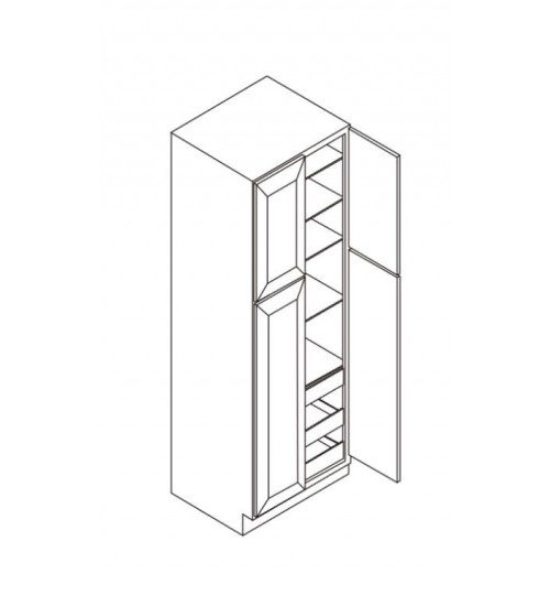"Wall Pantry 4 Doors 30""W x 27""D – 6"