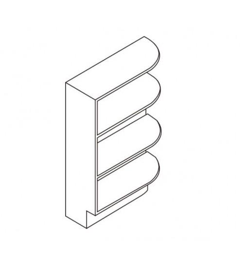 """Base End Shelf 9""""W x 24""""D – 6"""