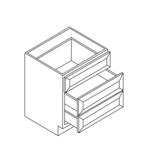 Vanity 3 Drawer Base – 4